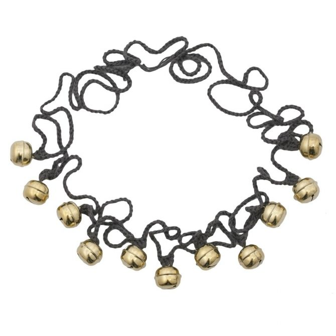 Ding Ding Garland dark grey gold bells - Numero 74