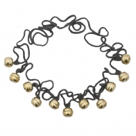 Ding Ding Garland dark grey gold bells