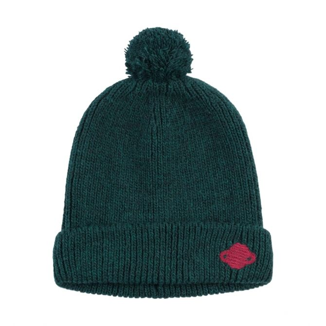 Saturn Pompom Beanie green - Bobo Choses