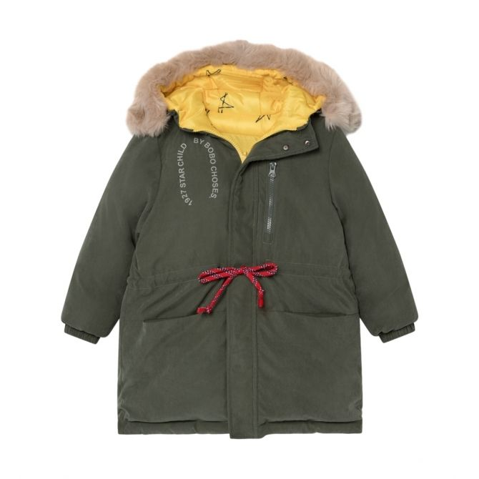 Reversible All Over Stars Anorak green - Bobo Choses