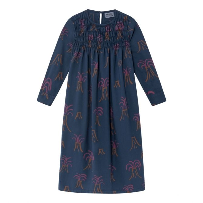 All Over Volcano Flounce Dress blue - Bobo Choses