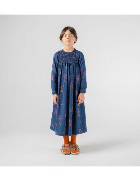 All Over Volcano Flounce Dress blue - Bobo Choses