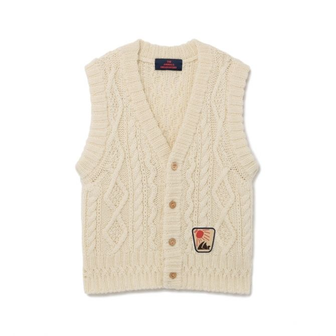 The Animals Observatory Bat vest white
