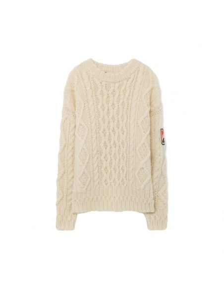 The Animals Observatory Braided sweater white