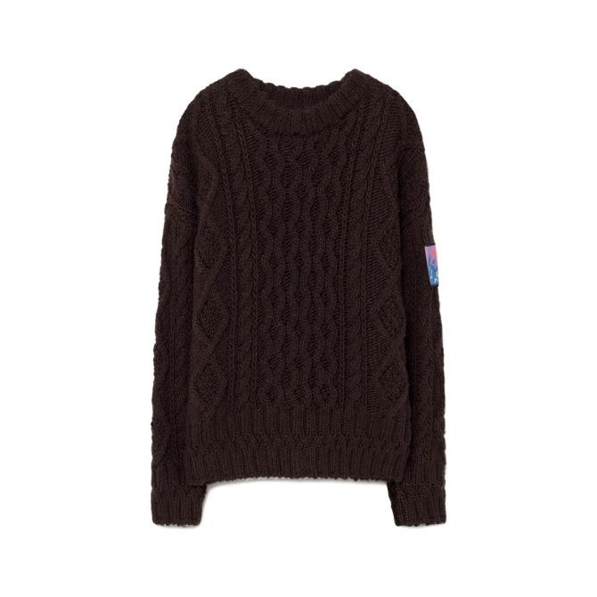 The Animals Observatory Braided sweater brown