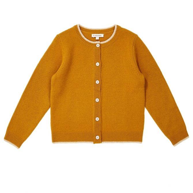 Hermione Cardigan mustard - Caramel Baby & Child