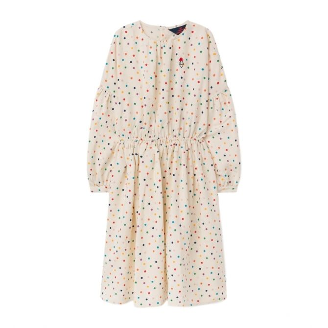 The Animals Observatory Dots dress white