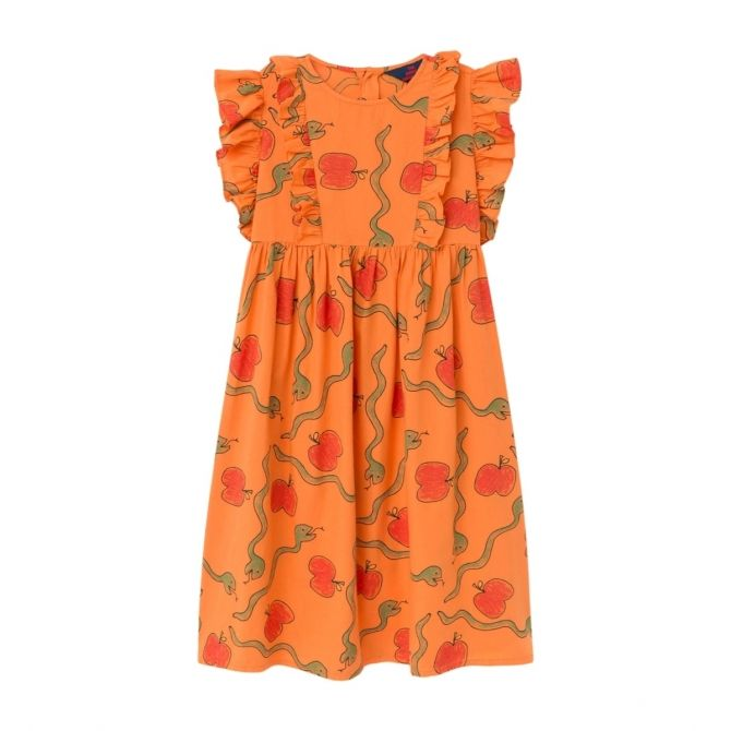 The Animals Observatory Otter dress Apples&Snakes orange