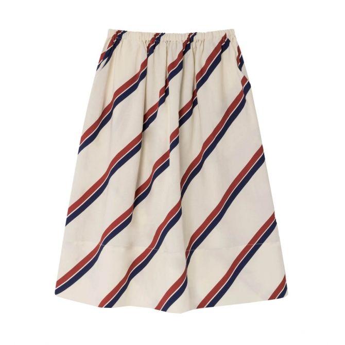 The Animals Observatory Stripes skirt white