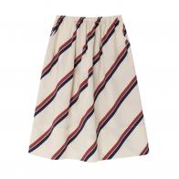 Stripes skirt white