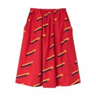 80's skirt red