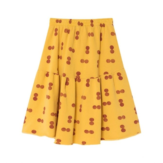 Cat Circles skirt yellow - The Animals Observatory