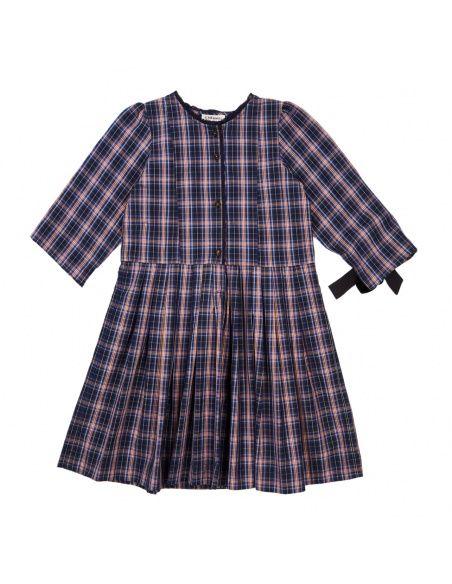 Caramel Baby & Child - Dress Medea Navy Check - 1