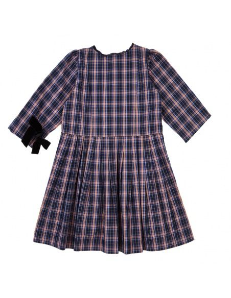 Caramel Baby & Child - Dress Medea Navy Check - 2