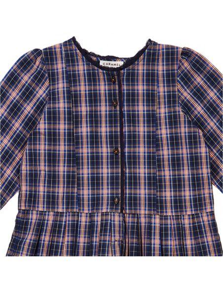 Caramel Baby & Child - Dress Medea Navy Check - 3