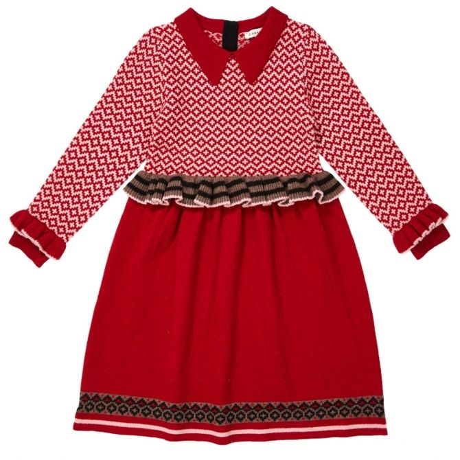 Zeus Dress red - Caramel Baby & Child
