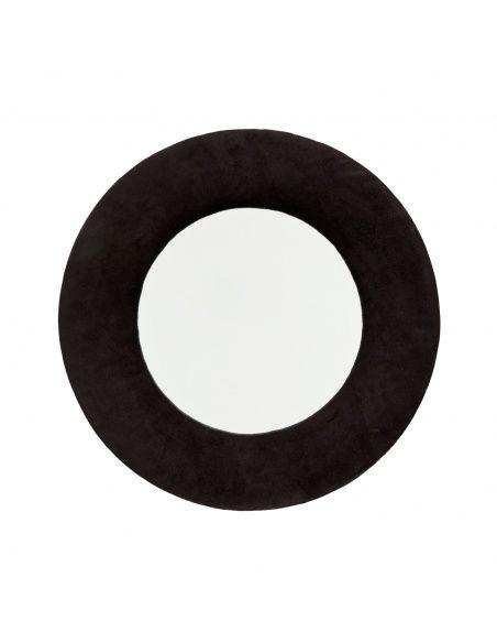 Madam Stoltz Hanging mirror velvet black