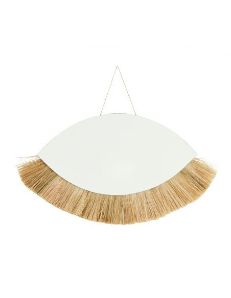 Madam Stoltz hanging mirror with grass frame