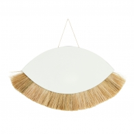 hanging mirror with grass frame