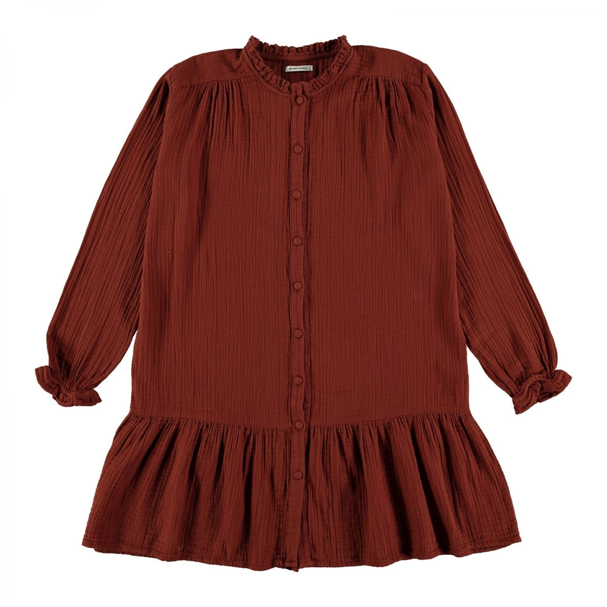 The New Society Dress Lúa Winter Bambula brown