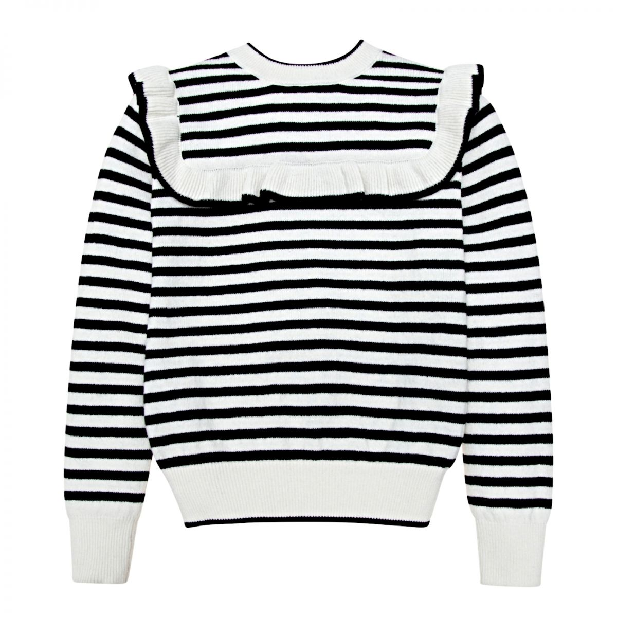 The New Society Abby pullover with stripes