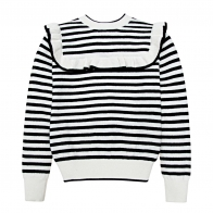 Abby pullover with stripes