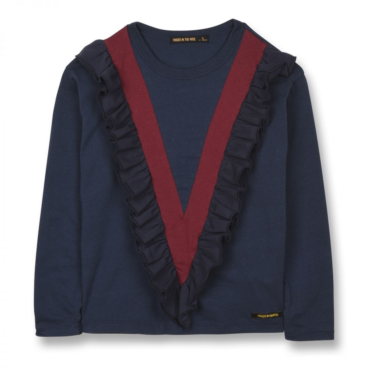 Finger in the nose - Shine Blouse Navy Blue - 1