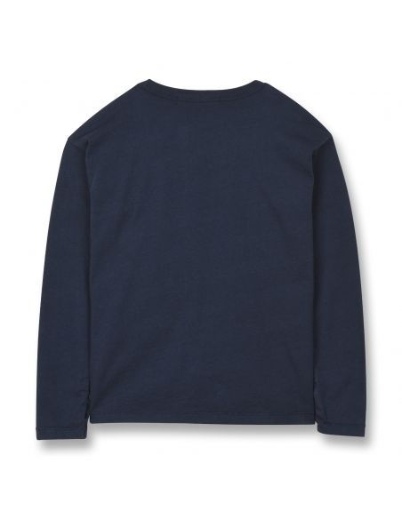 Finger in the nose - Shine Blouse Navy Blue - 2