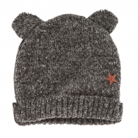 Bear knit hat grey