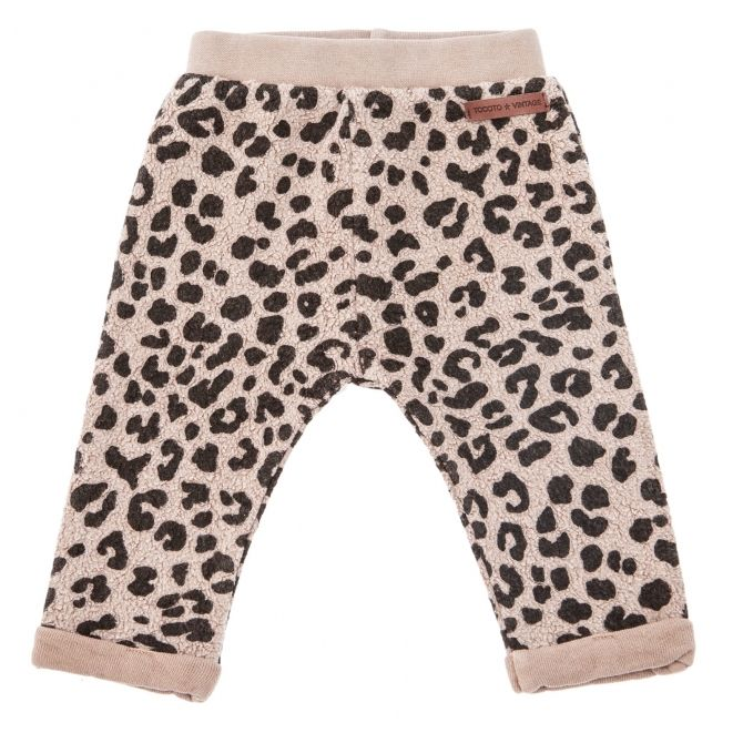 Animal print pants brown - Tocoto Vintage