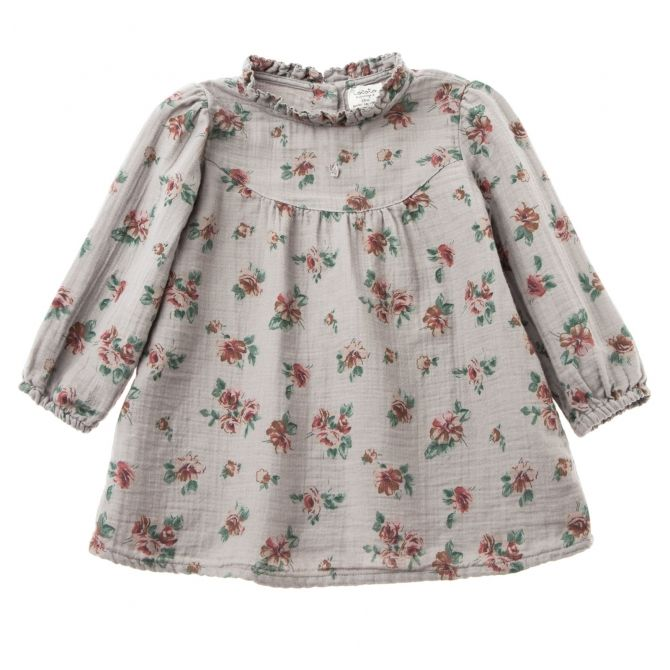 Flower print baby grey - Tocoto Vintage