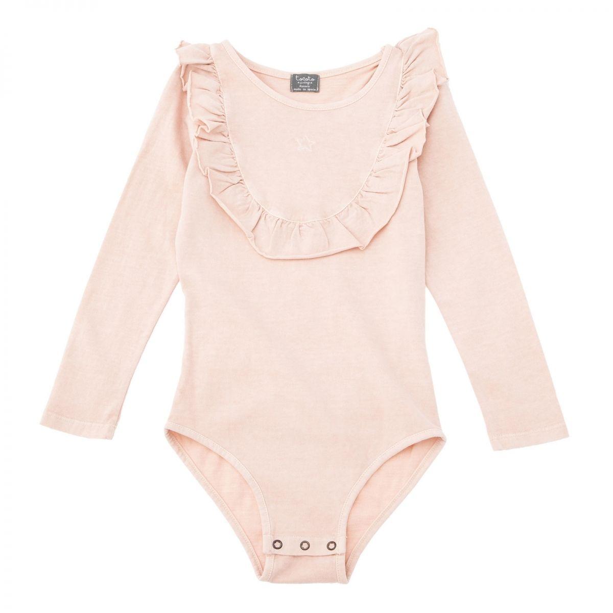 Jersey Tocoto Vintage Body con volante rosa