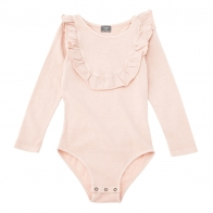 Jersey body with frill pink