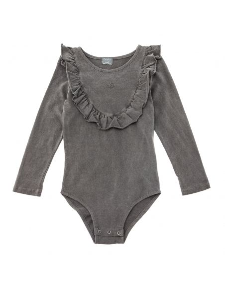 Tocoto Vintage Jersey body with frill grey