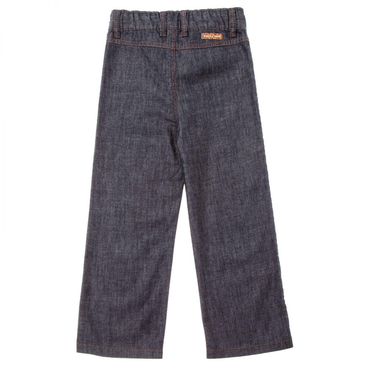 Pantalon en jean palazzo Tocoto Vintage Blue