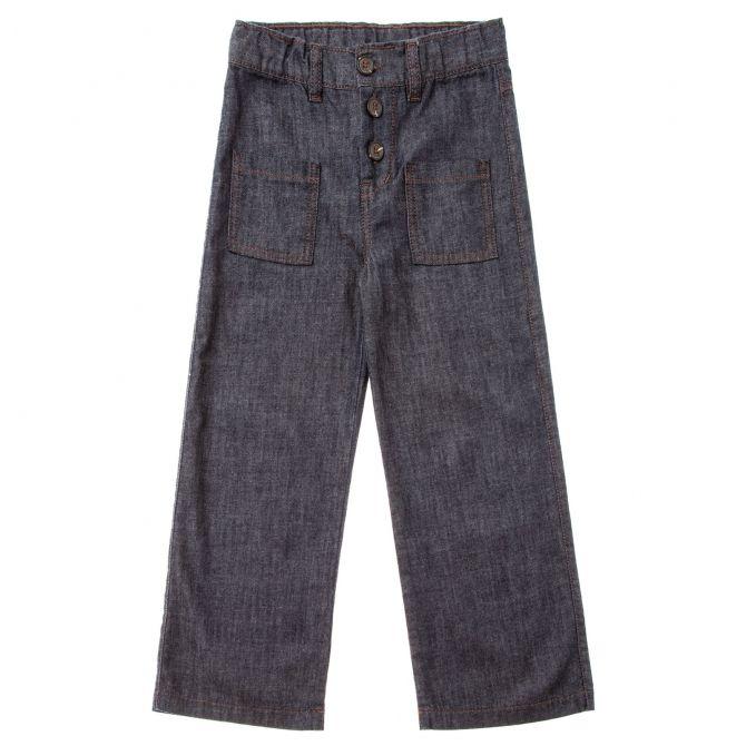 Spodnie denim palazzo niebieskie - Tocoto Vintage