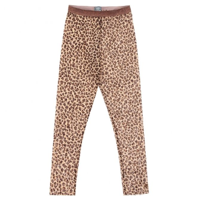 Animal print tulle trousers brown - Tocoto Vintage