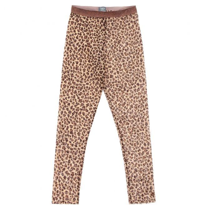 Spodnie animal print tulle brązowe - Tocoto Vintage