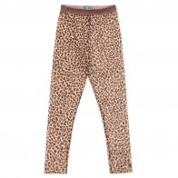 Animal print tulle trousers brown