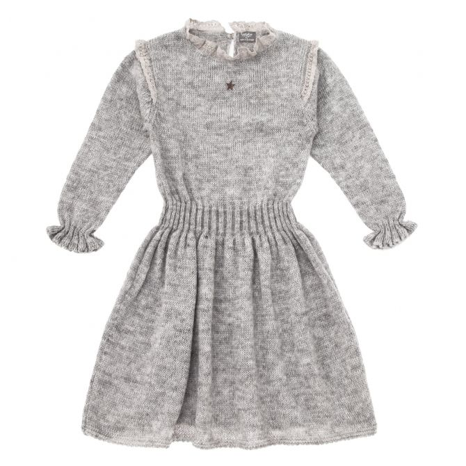 Knitted elastic dress grey - Tocoto Vintage
