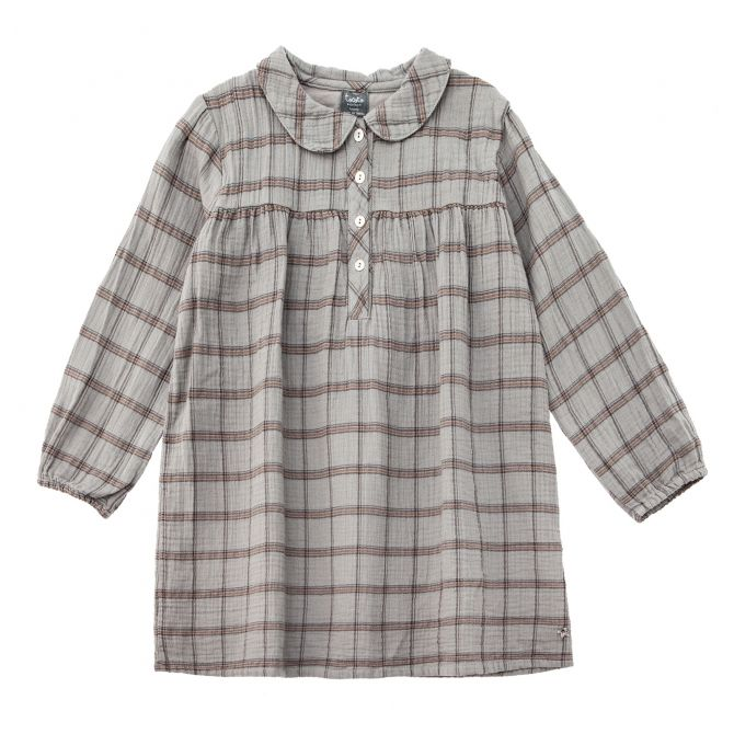 Checkered peter dress grey - Tocoto Vintage