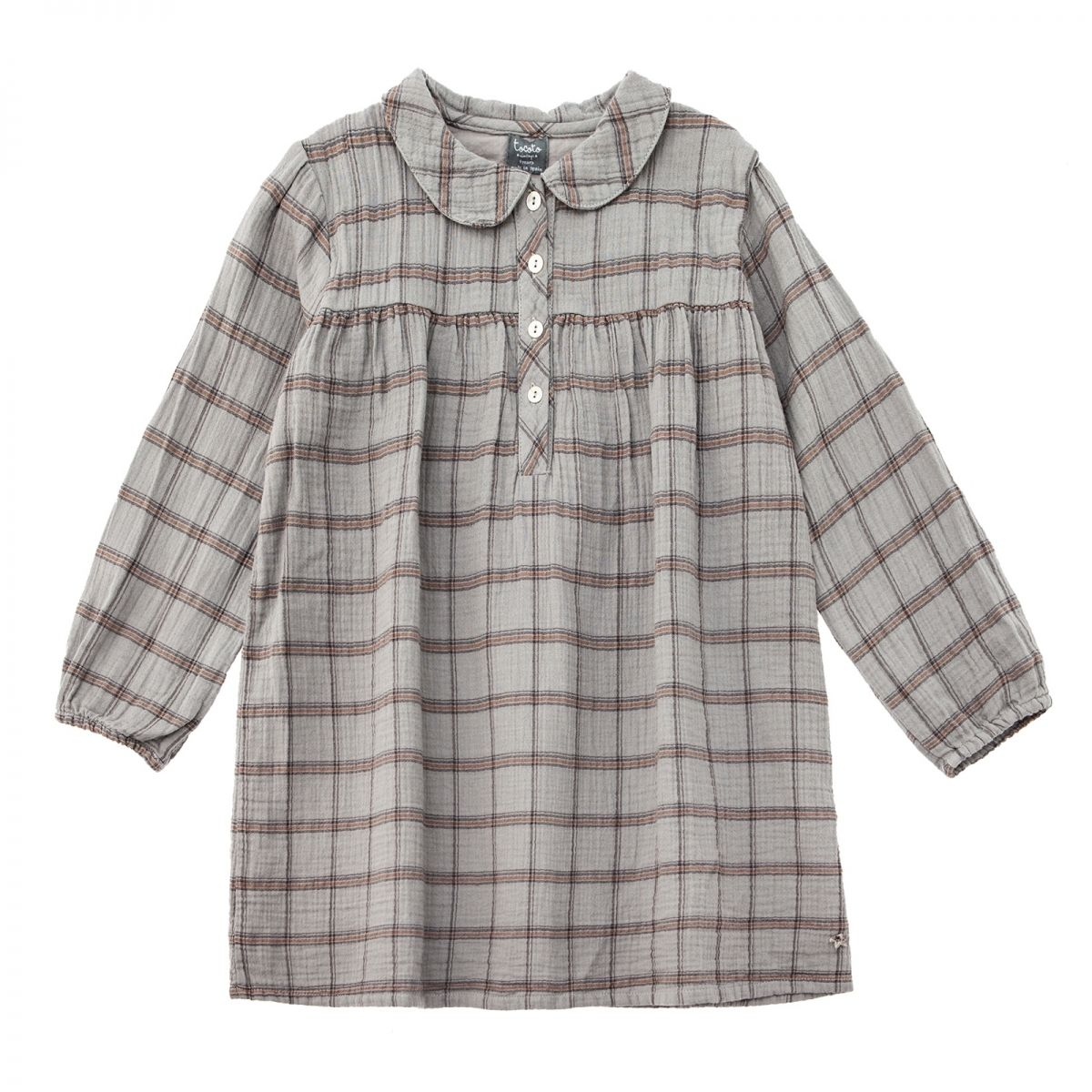 Tocoto Vintage Checkered peter dress grey