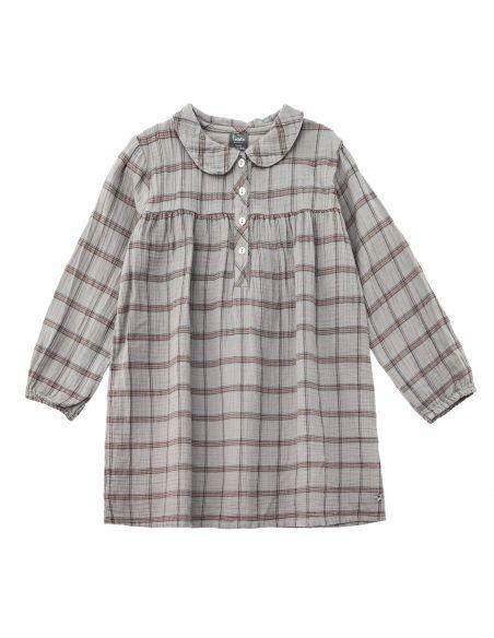 Tocoto Vintage Sukienka checkered peter szara