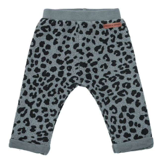 Tocoto Vintage Animal print pants grey