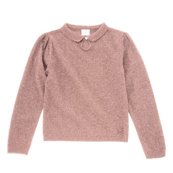 Sweter knitted różowy - Tocoto Vintage