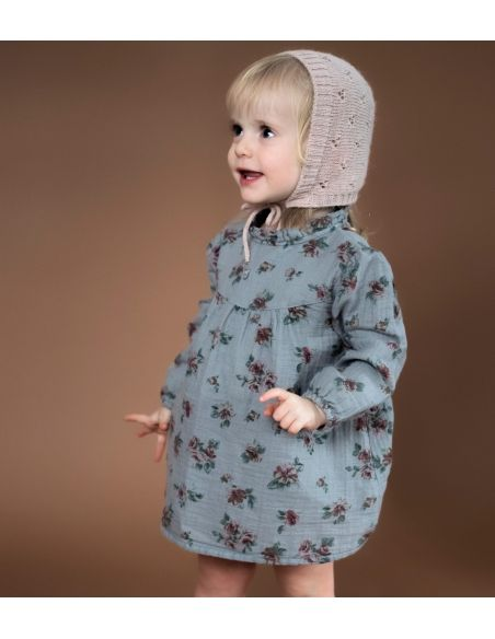 Tocoto Vintage Flower print baby grey