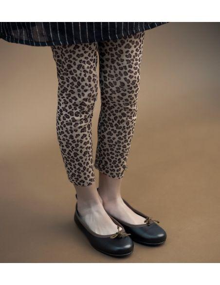 Tocoto Vintage Trousers 애니멀 프린트 튤 브라운
