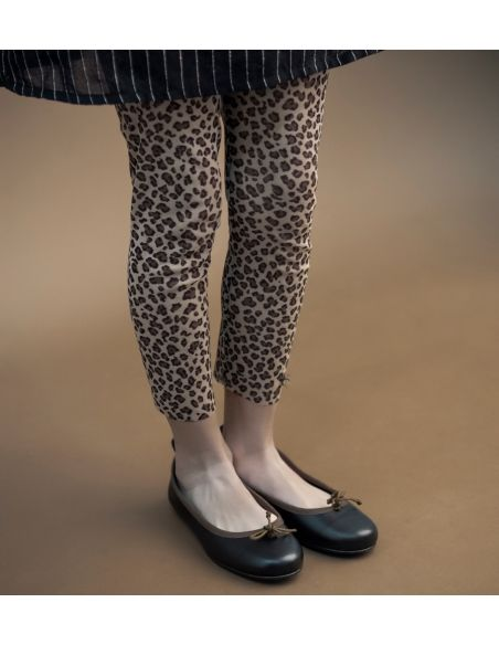 Tocoto Vintage Animal print tulle trousers brown
