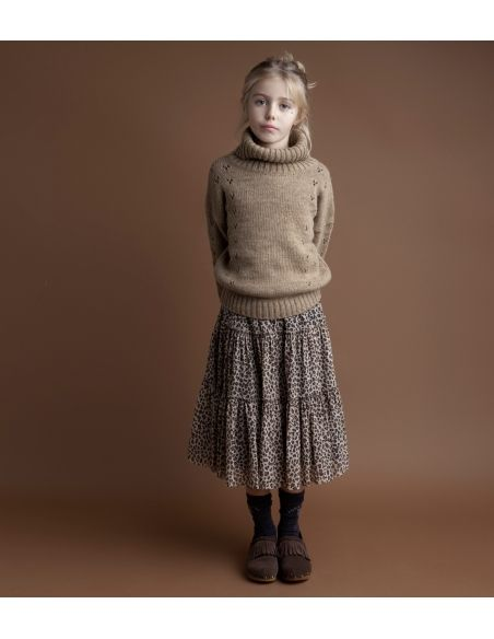 Tocoto Vintage Sweter turtle-neck brązowy