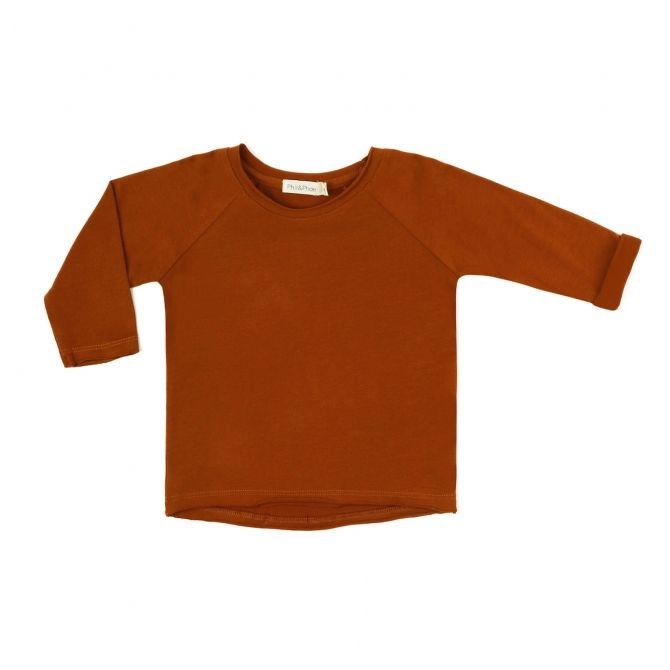 Phil & Phae Blouse reglan tee l/s orange